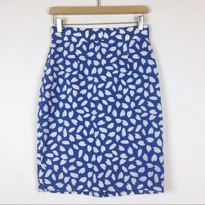 Vintage high waisted patterned mini pencil skirt
